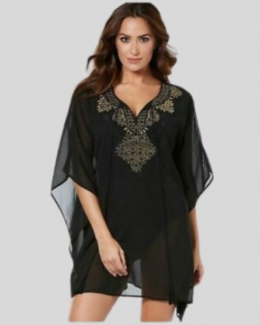 Miraclesuit Swim Caftan In Petal To The Metal