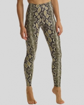 Commando Faux Leather Animal Print Legging with Perfect Control